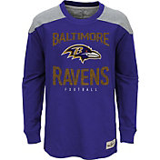 NFL Team Apparel Youth Baltimore Ravens Legend Purple Long Sleeve Shirt