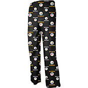 NFL Team Apparel Youth Pittsburgh Steelers Team Print Black Jersey Pants