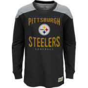 NFL Team Apparel Youth Pittsburgh Steelers Legend Black Long Sleeve Shirt