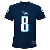 NFL Team Apparel Youth Tennessee Titans Marcus Mariota #8 Navy T-Shirt