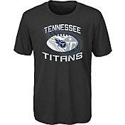 NFL Team Apparel Youth Tennessee Titans Infinity Chrome Performance Black T-Shirt