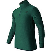 New Balance Men's Transit Quarter Zip Running Long Sleeve Shirt