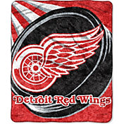 Northwest Detroit Red Wings Puck Sherpa Throw