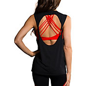 Onzie Women's Black Twist Back Tank Top