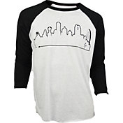 OutlineTheSky Men's Dallas Skyline Baseball T-Shirt