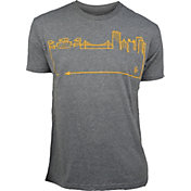 OutlineTheSky Men's Pittsburgh Skyline T-Shirt