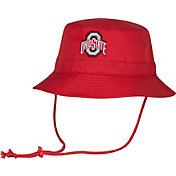 OSU Men's Ohio State Buckeyes Scarlet Head Case Drawstring Bucket Hat
