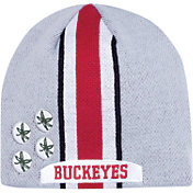 OSU Men's Ohio State Buckeyes Gray Helmet Head Beanie