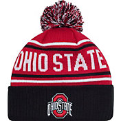 OSU Men's Ohio State Buckeyes Scarlet/Black End Around Cuffed Knit Beanie