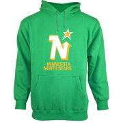 Old Time Hockey Men's Minnesota North Stars Big Logo Pullover Hoodie