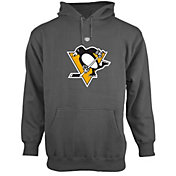 Old Time Hockey Men's Pittsburgh Penguins Big Logo Pullover Hoodie