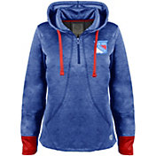 Old Time Hockey Women's New York Rangers Annabelle Royal Quarter-Zip Hoodie