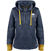Old Time Hockey Women's Buffalo Sabres Annabelle Navy Quarter-Zip Hoodie