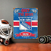 Party Animal New York Rangers Embossed Metal Sign