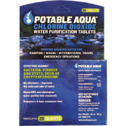 Potable Aqua Chlorine Dioxide Water Purification Tablets – 20 Pack