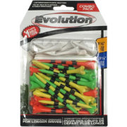 "Pride Sports Evolution 3.25"" & 1.5"" Golf Tee Combo – 50-Pack"