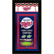 Photo File Minnesota Twins World Series Champions Framed Banner