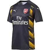 PUMA Men's Arsenal 17/18 Replica Yellow/Navy Jersey