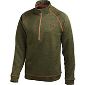 PUMA Men's PWRWARM Heather Quarter-Zip Golf Pullover