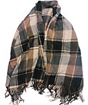 Quagga Women's Camel Plaid Button Wrap