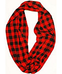 Quagga Women's Flannel Plaid Eternity Scarf
