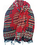 Quagga Women's Red Canyon Ikat Button Wrap