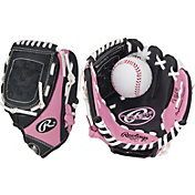 "Rawlings 9"" Girls' T-Ball Glove w/ Ball"