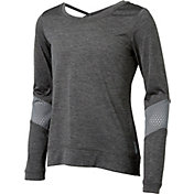 Reebok Girls' Fashion Cross Back Long Sleeve Shirt