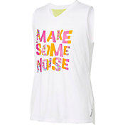 Reebok Girls' Mesh Back Make Some Noise Graphic Muscle Tank Top