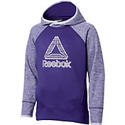 Reebok Girls' Performance Fleece Twist Print Hoodie