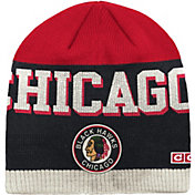 CCM Men's Chicago Blackhawks Wordmark Knit Beanie