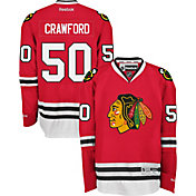Reebok Men's Chicago Blackhawks Corey Crawford #50 Premier Replica Home Jersey
