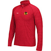 Reebok Men's Chicago Blackhawks Left Winger Red Quarter-Zip Shirt