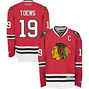Reebok Men's Chicago Blackhawks Jonathan Toews #19 Premier Replica Home Jersey