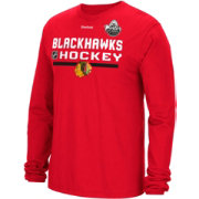 Reebok Men's 2017 NHL Winter Classic Chicago Blackhawks Authentic Locker Room Long Sleeve Red T-Shirt
