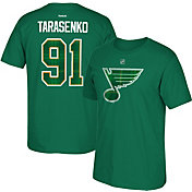 Reebok Men's St. Louis Blues Vladimir Tarasenko #91 St. Patrick's Day Green Player T-Shirt