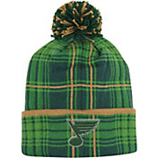 Reebok Men's St. Louis BLues St. Patrick's Day Cuffed Knit Hat