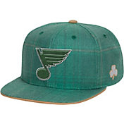 Reebok Men's St. Louis Blues St. Patrick's Day Green Plaid Snapback Hat