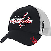 Reebok Men's Washington Capitals Center Ice Slouch Black Flex Hat