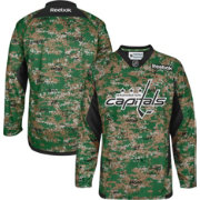 Reebok Men's Washington Capitals Digital Camouflage Practice Jersey