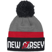 Reebok Men's New Jersey Devils Center Ice Cuffed Pom Knit Hat
