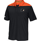 Reebok Men's Philadelphia Flyers Center Ice Statement Black/Orange Polo