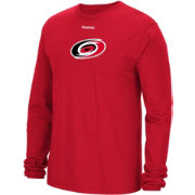 Reebok Men's Carolina Hurricanes Jersey Crest Red Long Sleeve T-Shirt