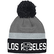 Reebok Men's Los Angeles Kings Center Ice Cuffed Pom Knit Hat