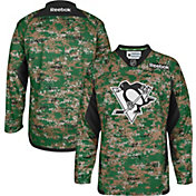 Reebok Men's Pittsburgh Penguins Digital Camouflage Practice Jersey