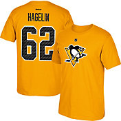 Reebok Men's Pittsburgh Penguins Carl Hagelin #62 Replica Gold Player T-Shirt
