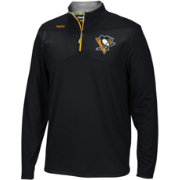 Reebok Men's Pittsburgh Penguins Center Ice Black Quarter-Zip Jacket