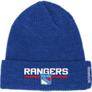 Reebok Men's New York Rangers Center Ice Cuffed Knit Hat