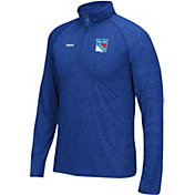Reebok Men's New York Rangers Left Winger Royal Quarter-Zip Shirt