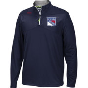 Reebok Men's New York Rangers Center Ice Navy Quarter-Zip Jacket
